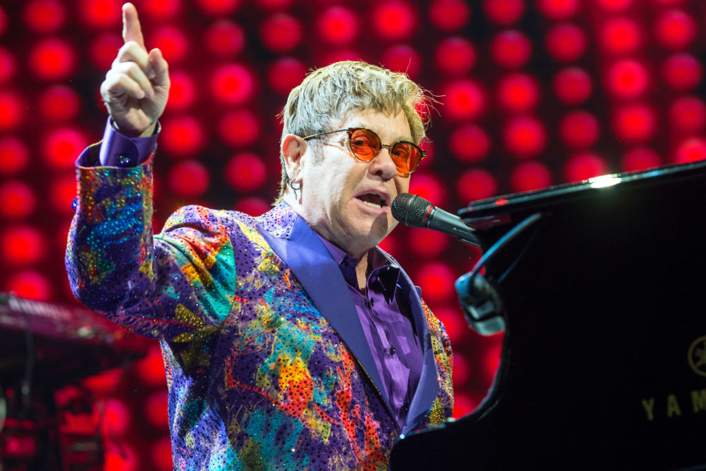 Elton John performs at Genting Arena on June 07, 2017 in Birmingham, England.